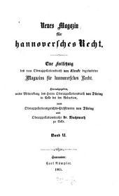 Neues Magazin für hannoversches Recht: Band 6