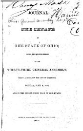 Journal of the Senate of the ... General Assembly of the State of Ohio ...: Volume 33
