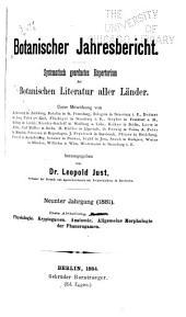 Justs' botanischer jahresbericht: Systematisch geordnetes repertorium der botanischen literatur aller länder
