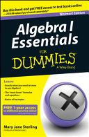 Algebra I Essentials For Dummies  Wal Mart Edition PDF