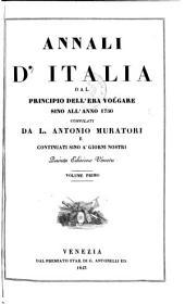 Annali d'Italia dal principio dell'era volgare sino all'anno 1750 compilati ... e continuati sino a'giorni nostri. 5. ed: Volume 1