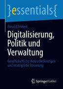 Digitalisierung  Politik und Verwaltung PDF