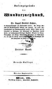 Anfangsgründe der Wundarzneykunst. Neueste Aufl. - Wien, Lechner 1831-1832