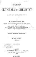 Watts  Dictionary of Chemistry PDF
