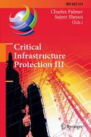 Critical Infrastructure Protection III PDF