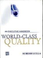 World Class Quality  An Executive Handbo PDF