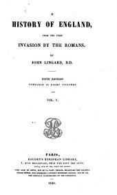 A History of England, from the First Invasion by the Romans: Volume 3