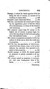 Defense of Usury: Shewing the Impolicy of the Present Legal Restraints on the Terms of Pecuniary Bargains; in Letters to a Friend. To which is Added, A Letter to Adam Smith ... on the Discouragements Opposed by the Above Restraints to the Progress of Inventive Industry. To which is Also Added, 2nd Ed., A Protest Against Law-taxes