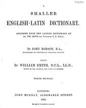 A Smaller English-Latin Dictionary