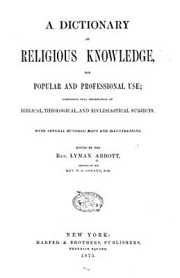 A Dictionary of Religious Knowledge PDF