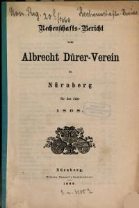 Rechenschaftsbericht vom Albrecht D  rer Verein in N  rnberg f  r das Jahr     PDF