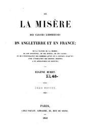 De la misere des classes laborieuses en Angleterre et en France ... - Paris, Paulin 1840: Volume1