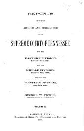 Reports of Cases Argued and Determined in the Supreme Court of Tennessee: Volume 94