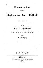 Grundzüge eines Systemes der Ethik