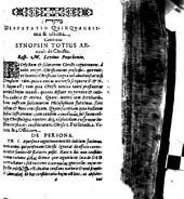 Continens Synopsin Totius Articuli de Christo
