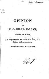 Opinion.... sur l'affectation des bois de l'Etat à la caisse d'amortissement. Séance du 6 mars 1817