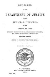 Register of the Department of Justice and the Judicial Officers of the United States