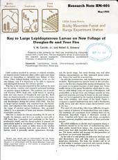 Key to Large Lepidopterous Larvae on New Foliage of Douglas-fir and True Firs