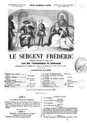 Le sergent Frédéric comédie-vaudeville en cinq actes par Vanderburch et Dumanoir