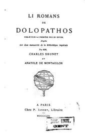Li romans de Dolopathos: Volume27,Partie4