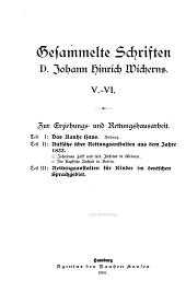 Gesammelte Schriften D. Johann Hinrich Wicherns: Band 5,Teil 1