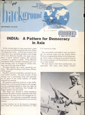 India  a Pattern for Democracy in Asia PDF