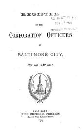 Register of the Corporation Officers of Baltimore City