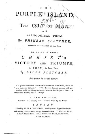 The Purple Island  Or  The Isle of Man