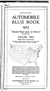Automobile Blue Book: Volume 2