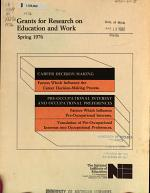 Grants for Research on Education and Work