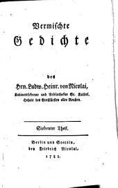 Vermischte Gedichte: Bände 7-8