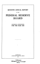 Annual Report of the Federal Reserve Board for the Period Ending December 31 ...: Volume 7