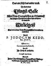 Iodoci Kedd Das ain stößt das ander umb: Wirbelgeist, anstatt einer Pfingstgabe, allen Neu-Evangelischen zur Erkanntnuss der seligen Wahrheit verehrt