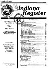 Indiana Register PDF