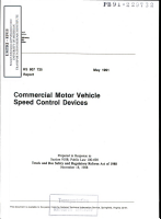 Commercial Motor Vehicle Speed Control Safety PDF
