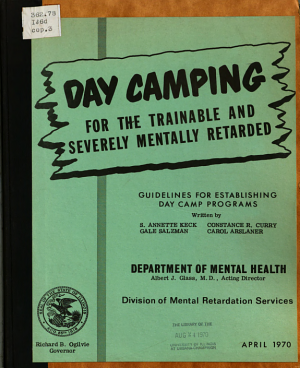 Day Camping for the Trainable and Severely Mentally Retarded PDF