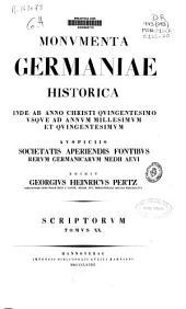 Chronica aevi Suevici ; Supplementa tomorum I.V.VI.XII