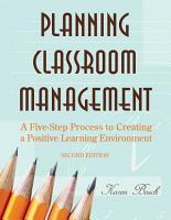 Planning Classroom Management PDF