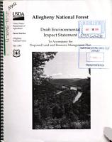 Allegheny National Forest  N F    Proposed Land and Resource Management Plan PDF