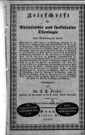 Zeitschrift für Philosophie und spekulative Theologie: Band 17