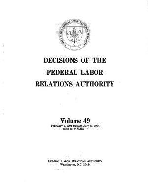 Decisions of the Federal Labor Relations Authority
