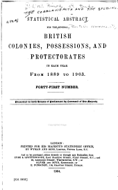 Statistical Abstract for the British Empire: Issues 41-42