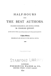 Half hours with the Best Authors PDF