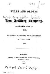 Rules and Orders ... revised ... to the year 1841