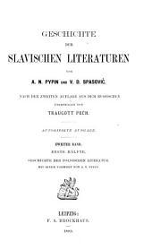 Geschichte der Slavischen literaturen: Band 2