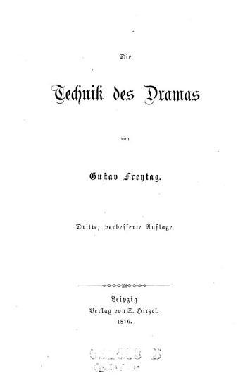 Die    Technik des Dramas PDF
