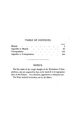 Memoirs  Correspondence  and Private Papers of Thomas Jefferson  Late President of the United States