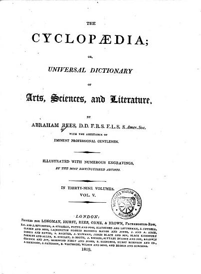The Cyclopaedia  Or  Universal Dictionary of Arts  Sciences and Literature PDF
