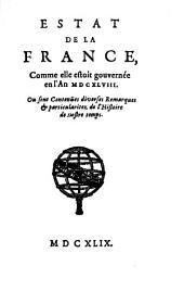 L'État de la France: ou l'on voit tous les princes, ducs et pairs, marêchaux de France, et autres officiers de la couronne ...