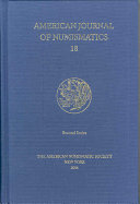 American Journal of Numismatics 18 PDF